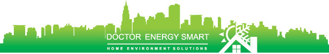 NYC Silhouette with Doctor Energy Smart® Logo
